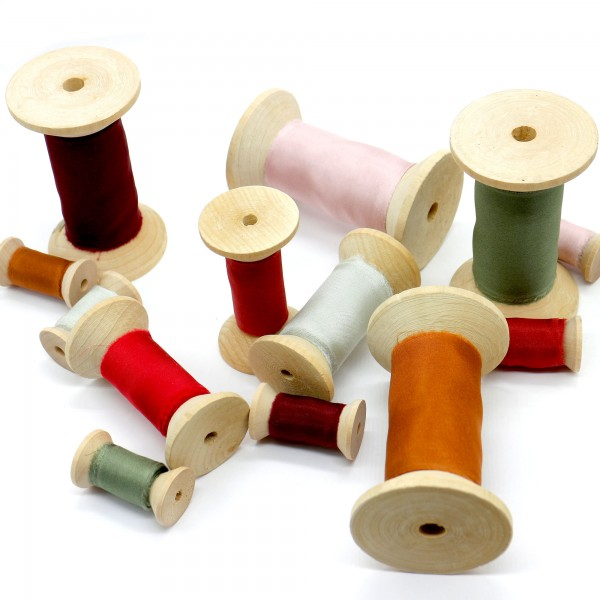 Sample Box of all our 40 silk ribbon colors for graphic designers and wedding stylists