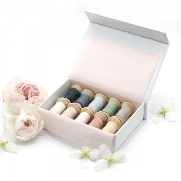 BEST OF Sample Box of our 10 bestselling silk ribbon colors for graphic designers and wedding stylists