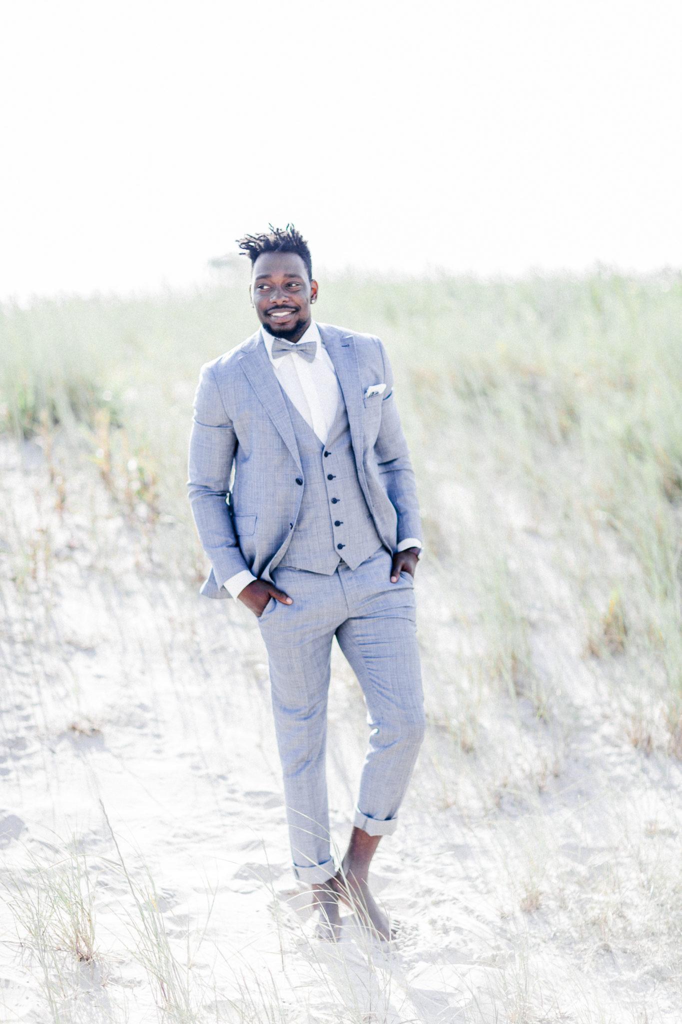 fine art wedding groom look