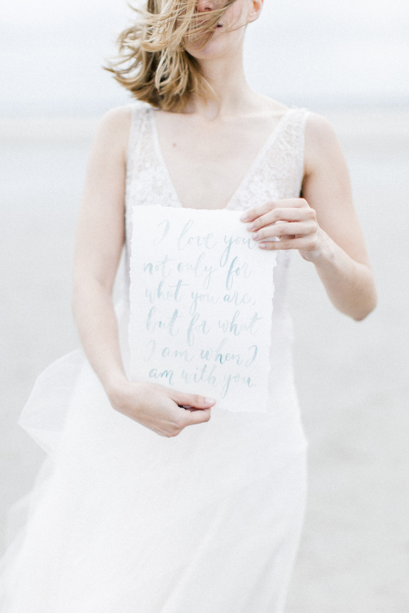 stationary fine art wedding dress
