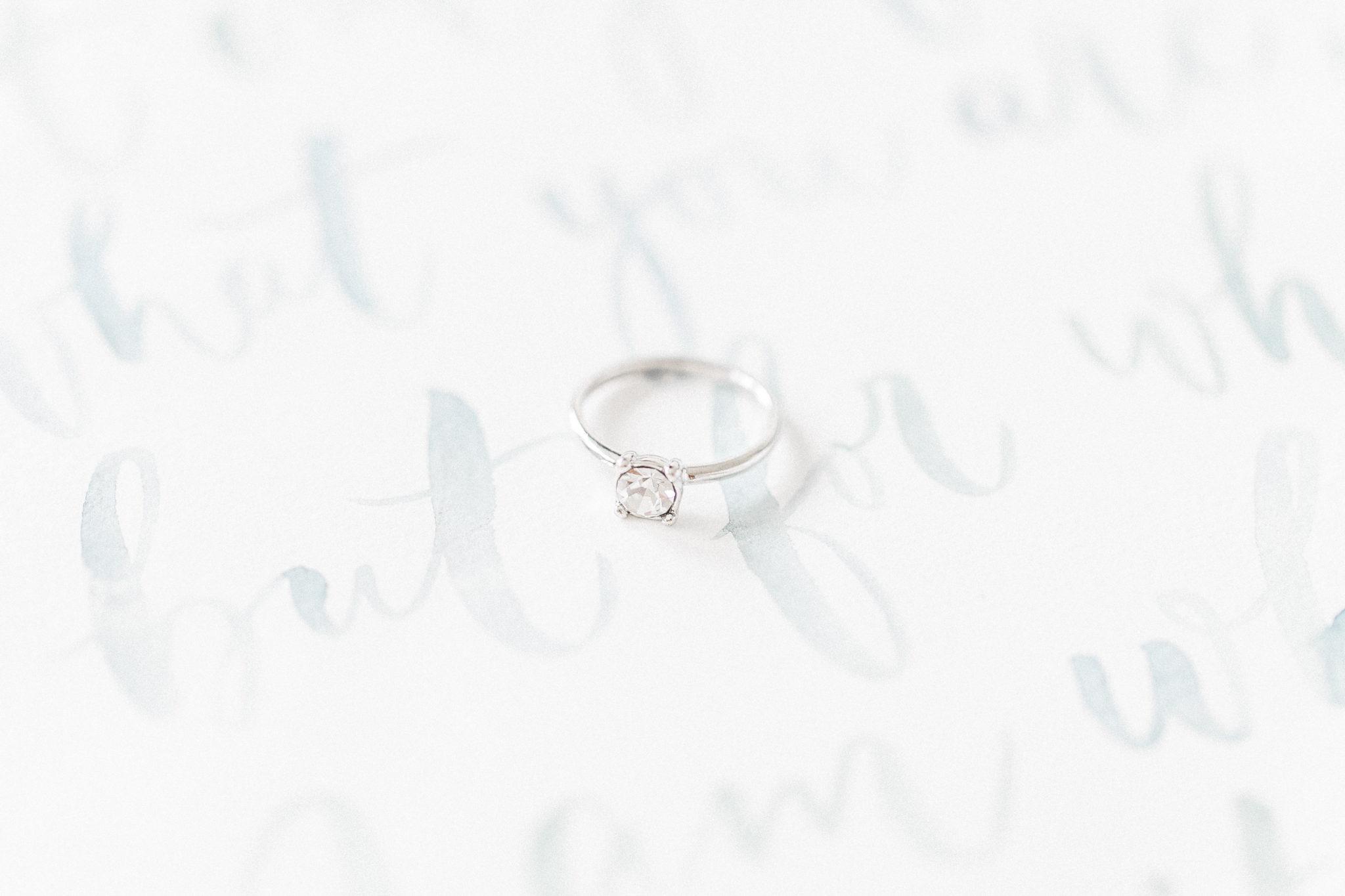 Fine art wedding ring