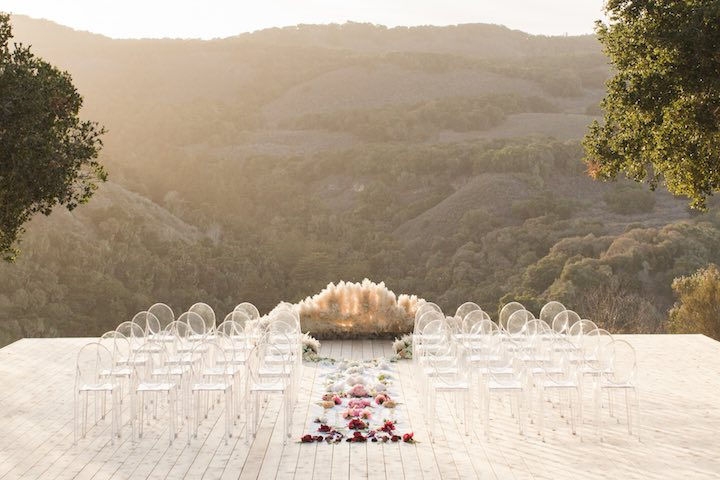 Boho Glam Wedding Ceremony Pampas
