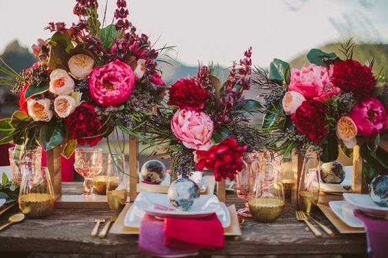 Boho Glam Wedding Table