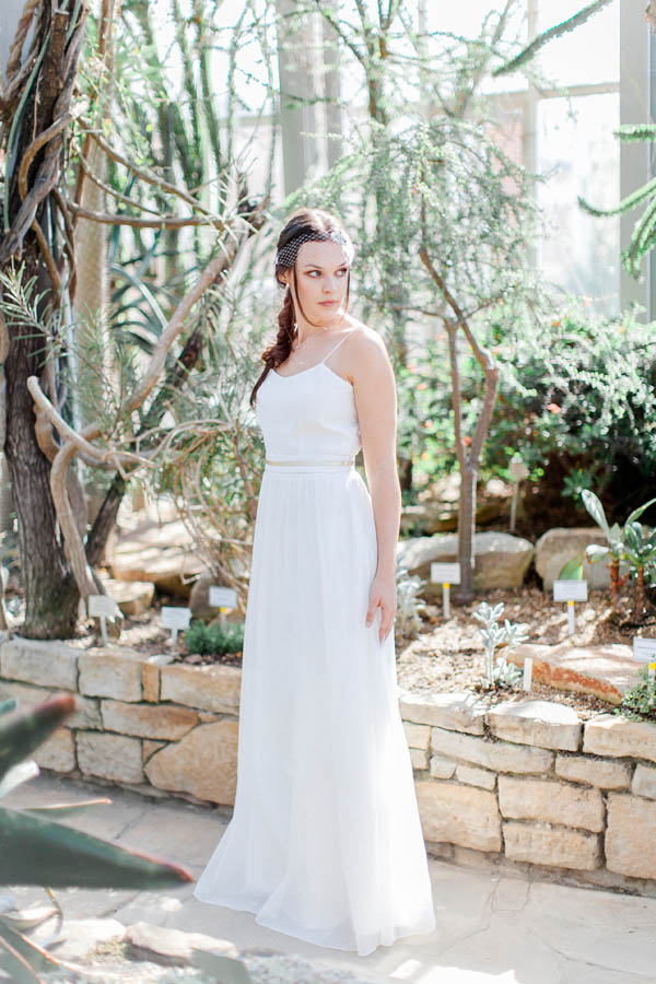 Bridal dress empire with waist line