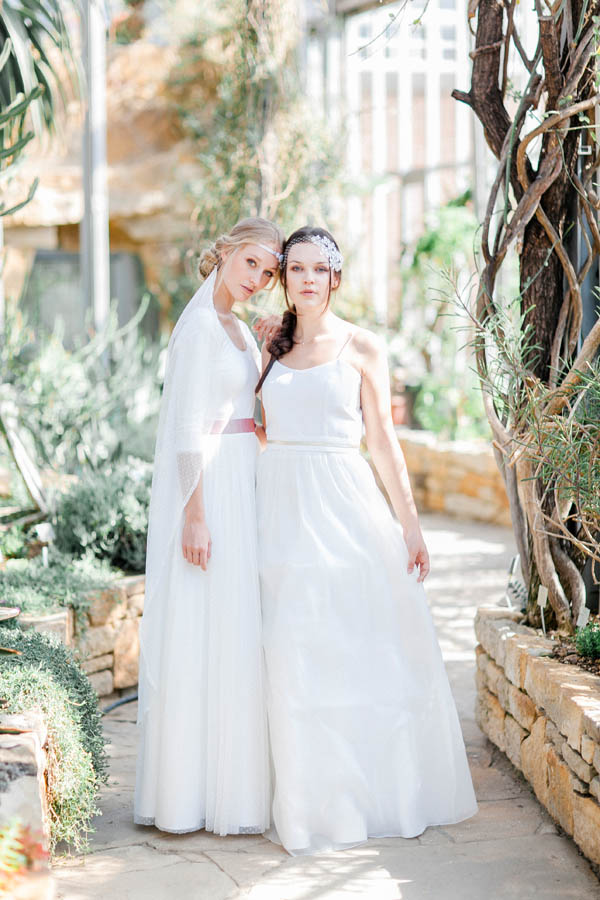 Flowy bridal dresses wit empire waist line