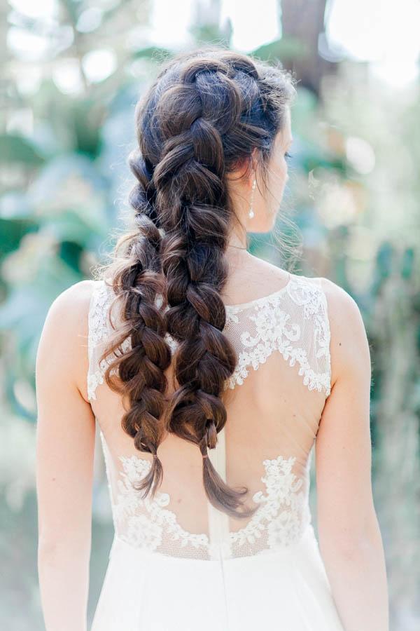 Bridal braid detail