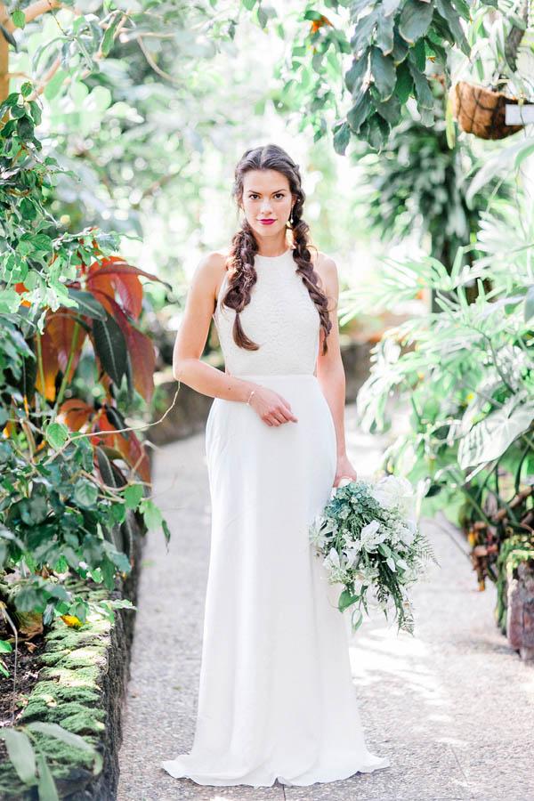 Bridal look with braided hair