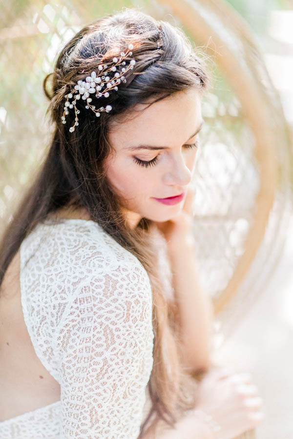 Bridal hair details