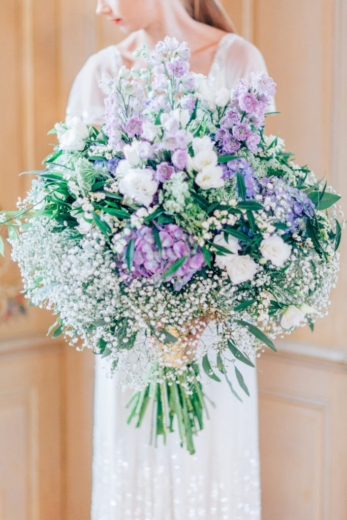 bridal bouquet, blue and lilac, wedding floristry, wedding bouquet