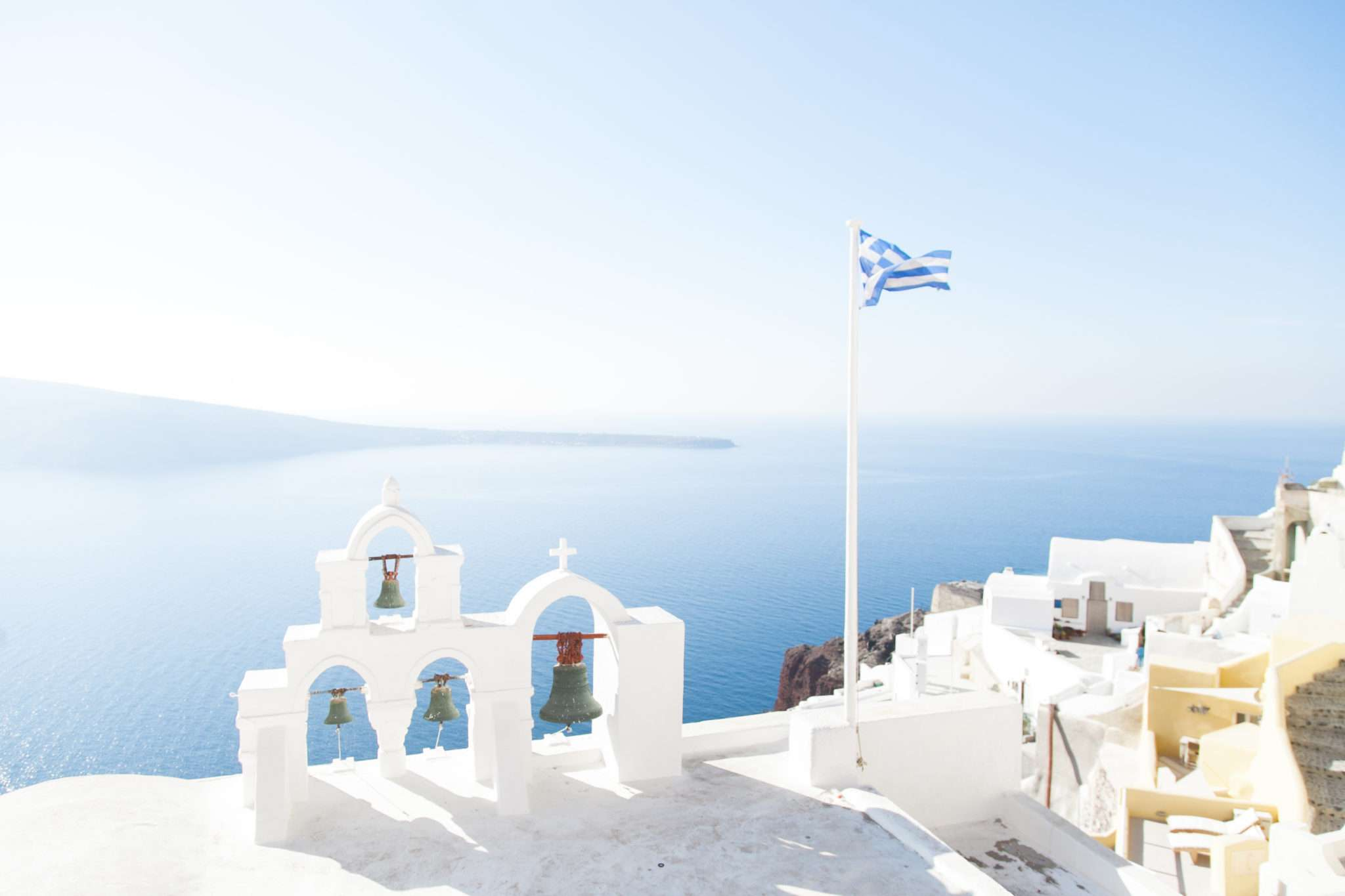 santorini landscape, destination wedding greece, summer wedding