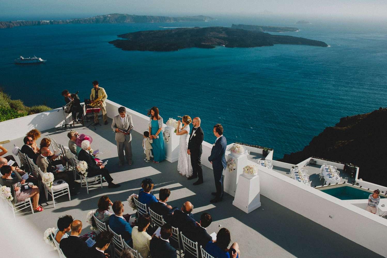 hotel wedding, greece hotel wedding, wedding with a view, santorini destination wedding