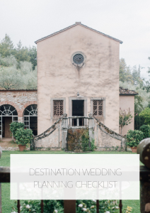 destination wedding tuscany checklist