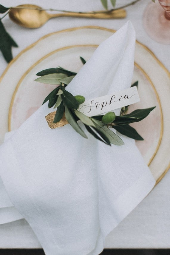 Villa Catreglio Tuscany Wedding Table Styling Details Olive