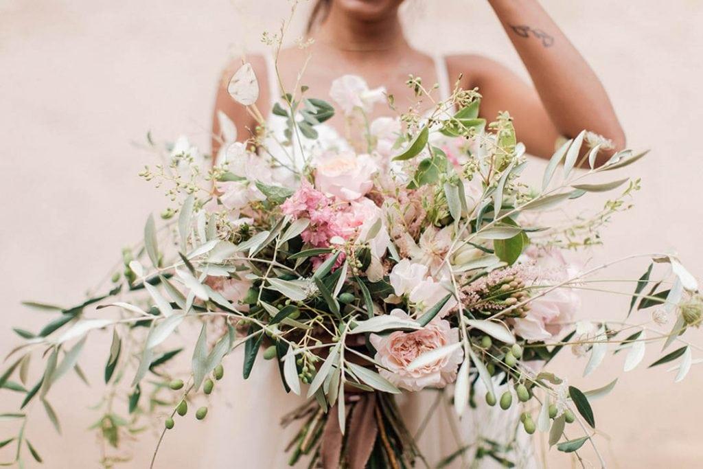 Villa Catureglio Tuscany Wedding Bouquet