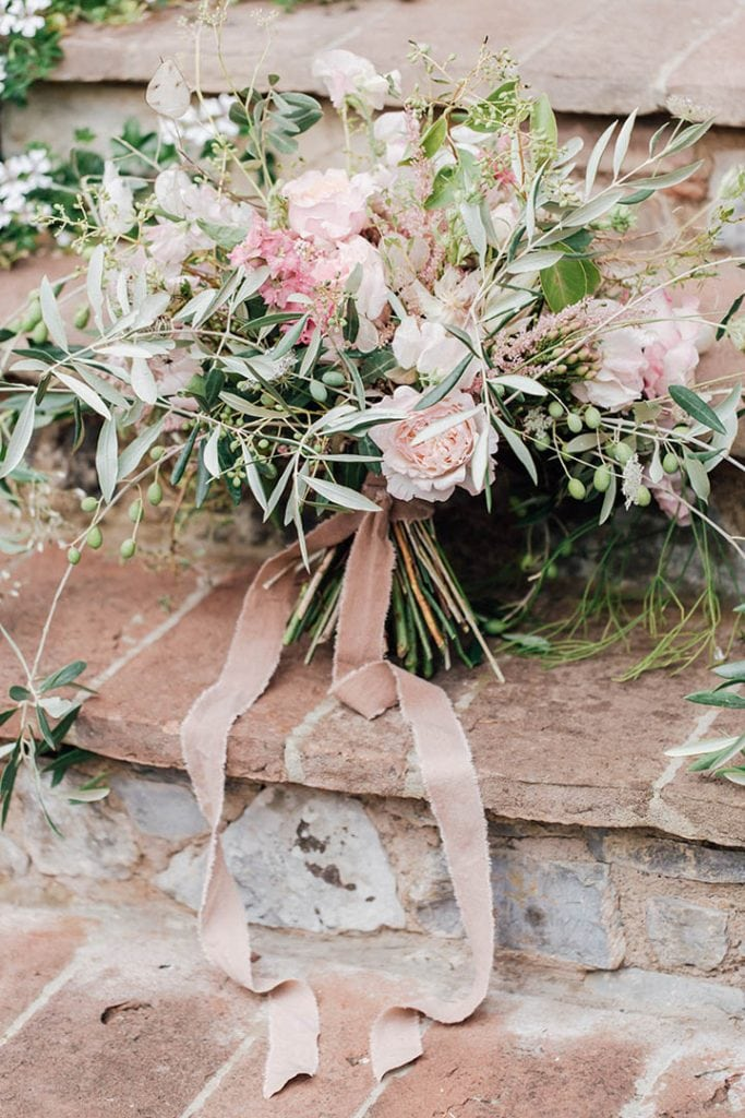Villa Catureglio Tuscany Wedding Bouquet 2