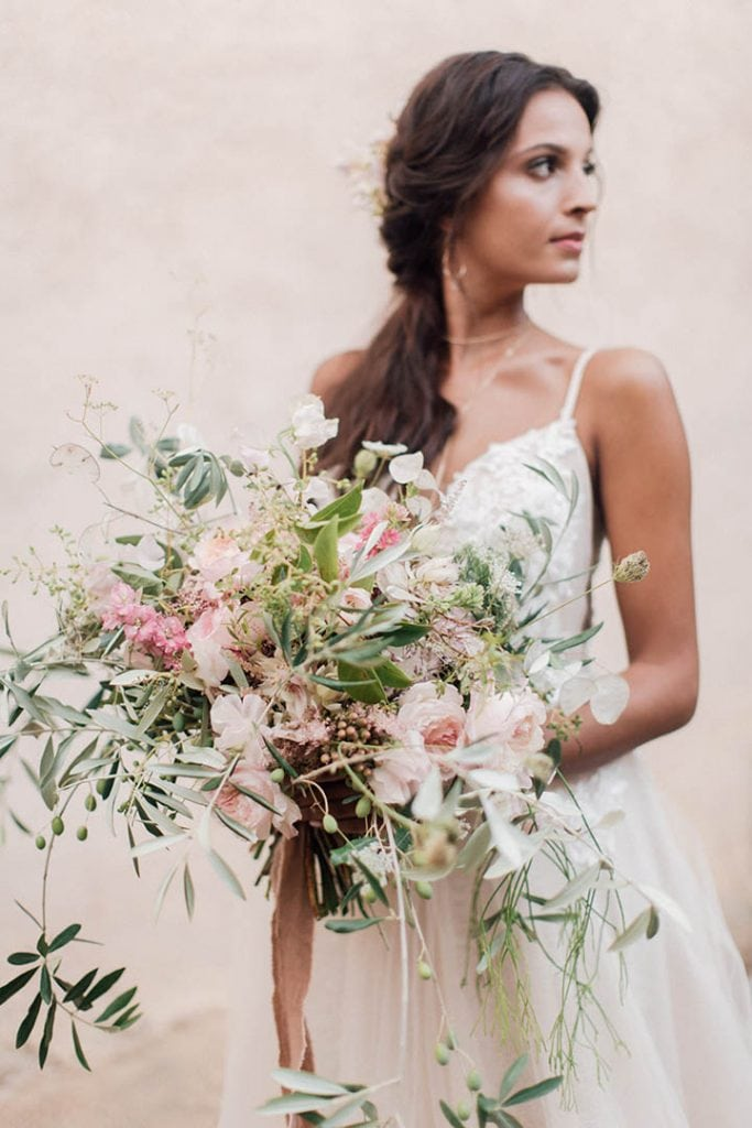 Villa Catureglio Tuscany Wedding Bridal Bouquet