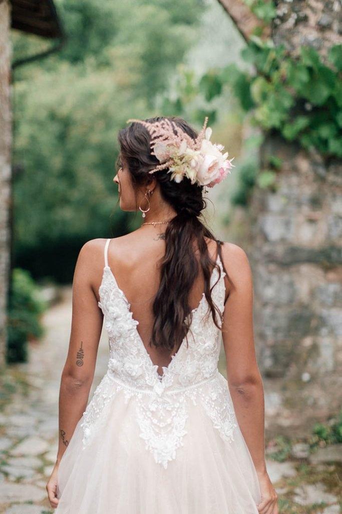 Villa Catureglio Tuscany Wedding Bridal Hair
