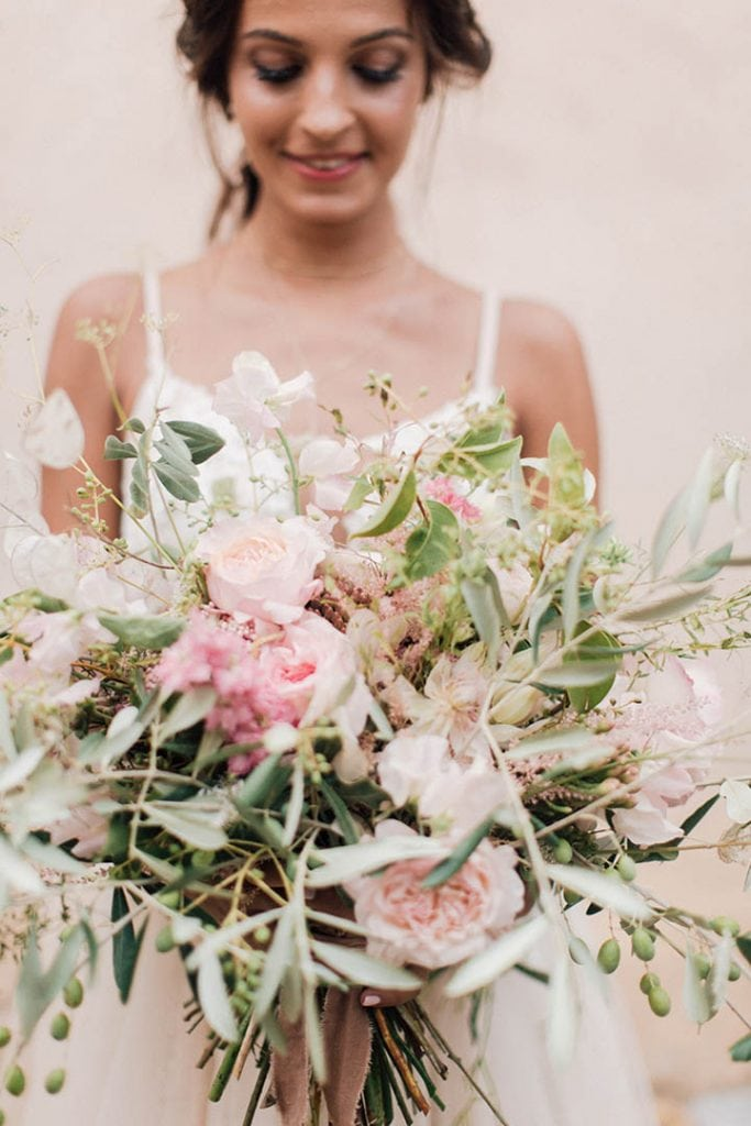 Villa Catureglio Tuscany Wedding Bride Bouquet