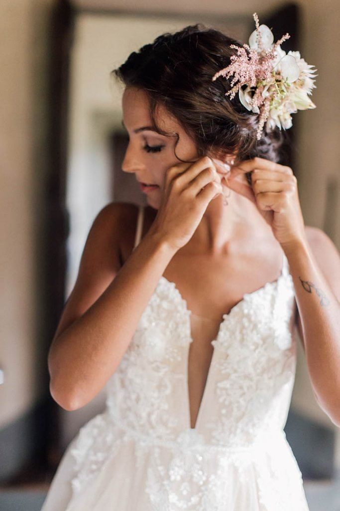 Villa Catureglio Tuscany Wedding Bride Getting Ready