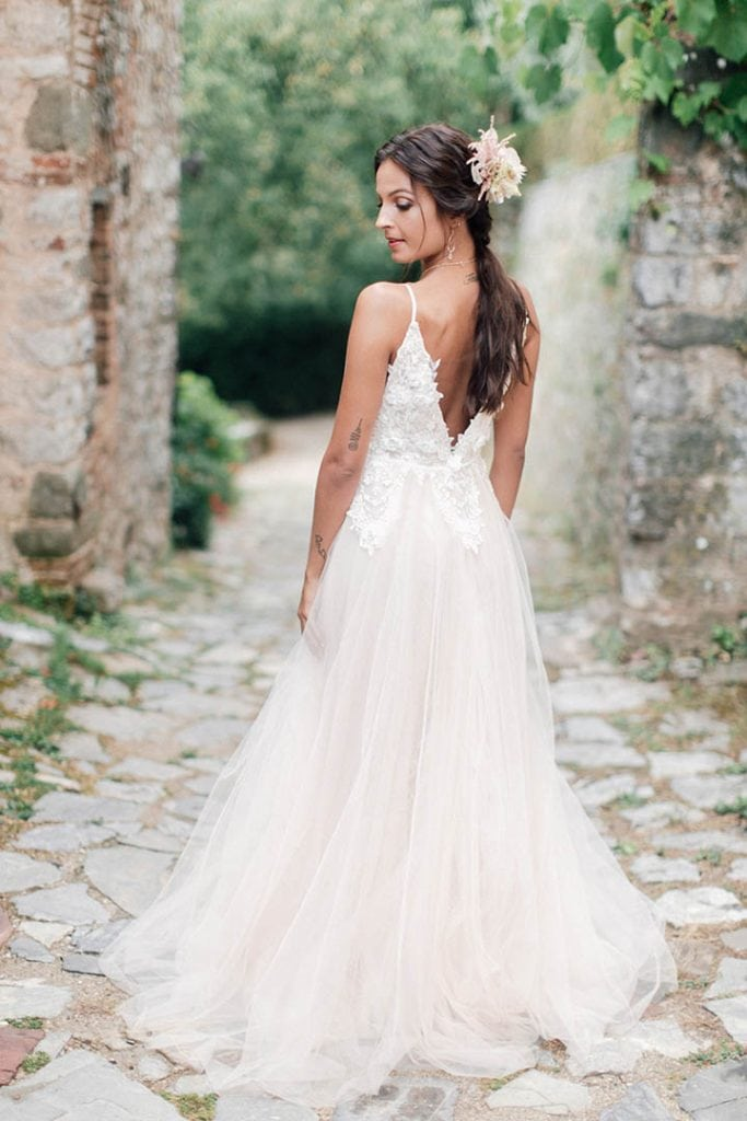 Villa Catureglio Tuscany Wedding Dress