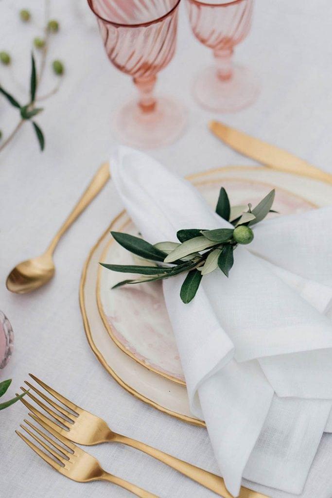 Villa Catureglio Tuscany Wedding Gold Cutlery