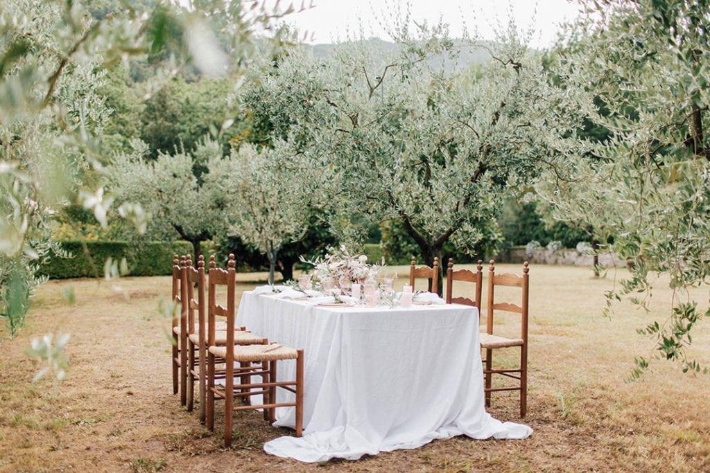 Villa Catureglio Tuscany Wedding Table