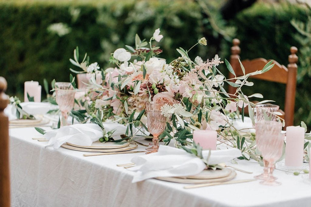 Villa Catureglio Tuscany Wedding Table Scape