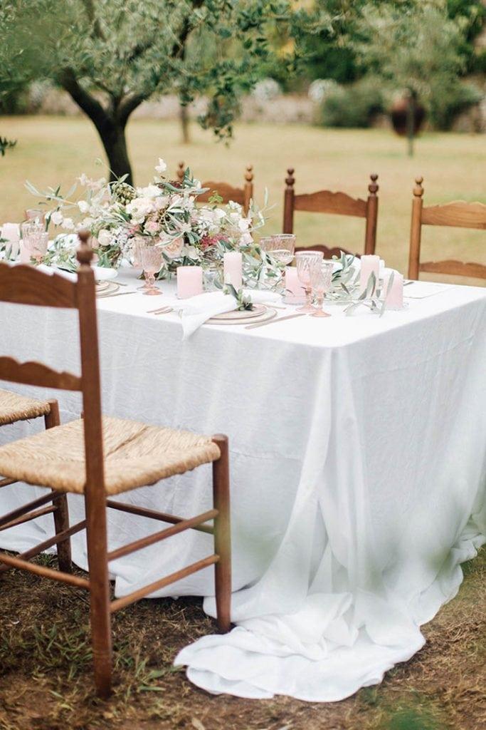 Villa Catureglio Tuscany Wedding Table Setting
