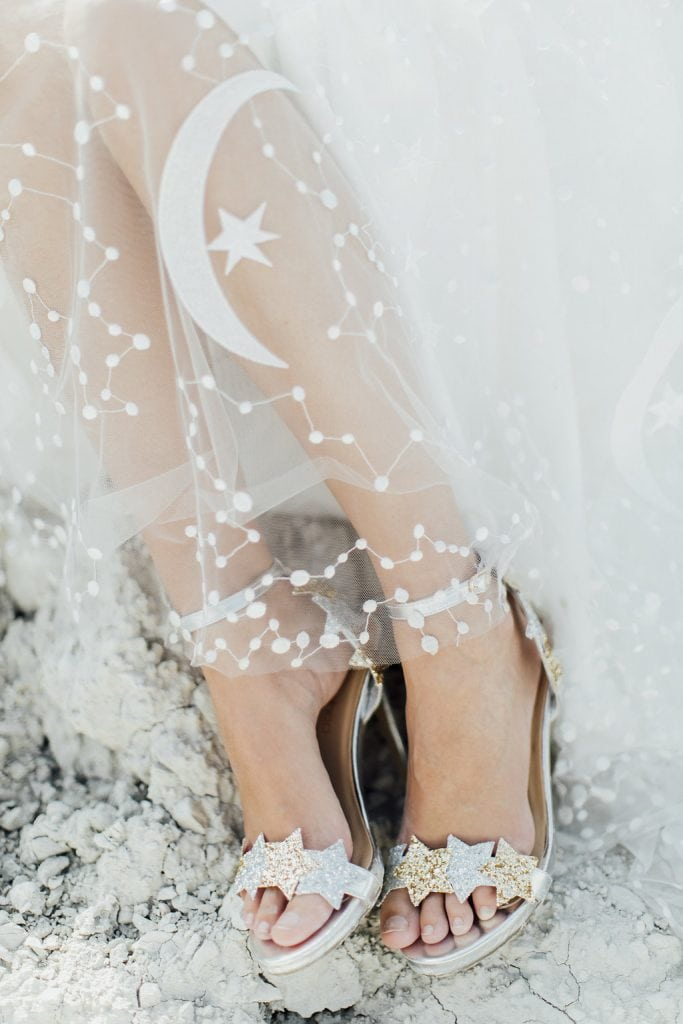 Galaxies Styled Shooting Wedding Shoes