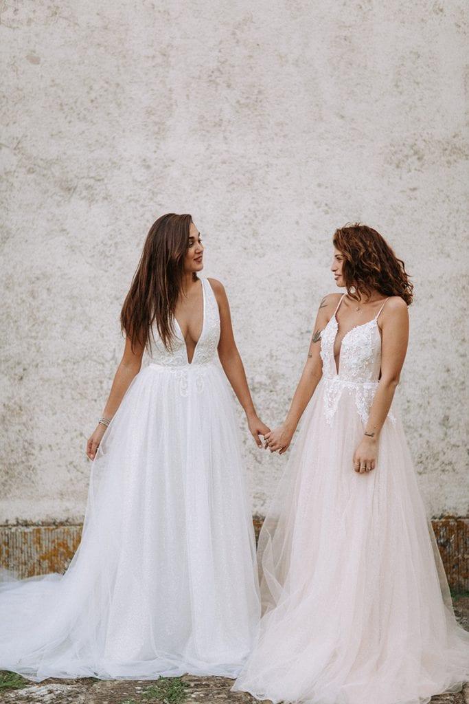 2 brides toskana wedding bridal dresses