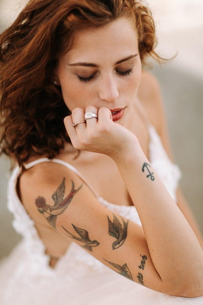 Toskana bride close up