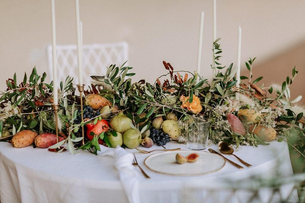 2 brides toskana wedding table design