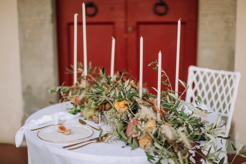 2 brides toskana wedding table