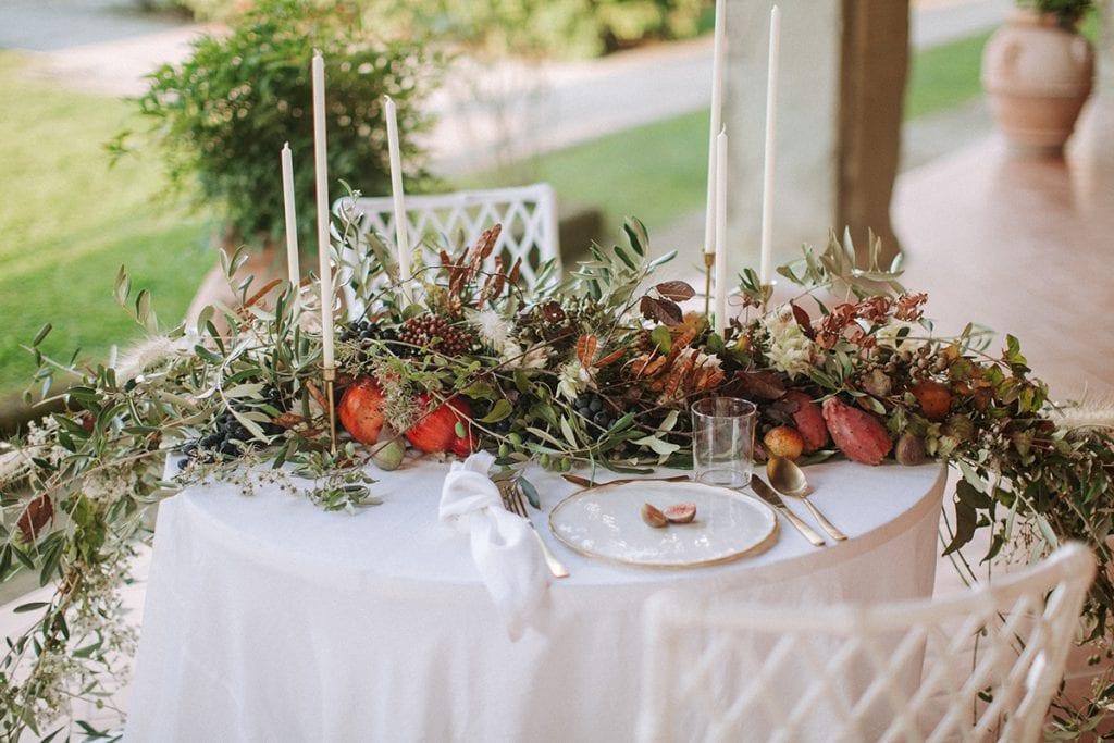 2 brides toskana wedding centerpiece