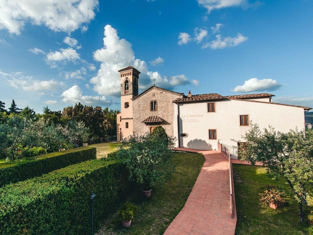 Castello Vicchiomaggio Tuscany Wedding Front