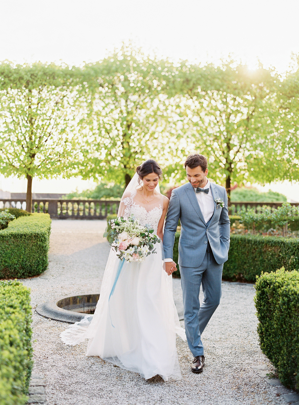 Castle Wedding In Germany In A French Blue Color Palette