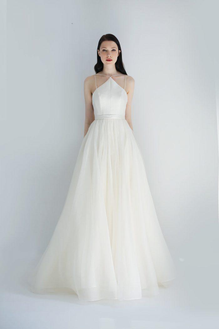 wedding dress, bridal dress, leanne marshall, wedding trends, wedding trend 2019, simple wedding dress, minimal wedding dress