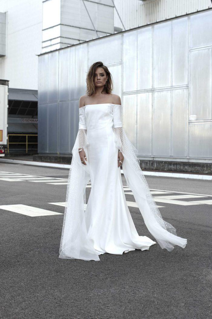 hochzeitskleid, brautkleid, rime arodaky, hochzeitstrend, hochzeitstrend 2019, minimal brautkleid, einfaches brautkleid