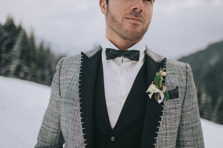 Magnolias On Silk Austria Winter Wedding Boutonniere