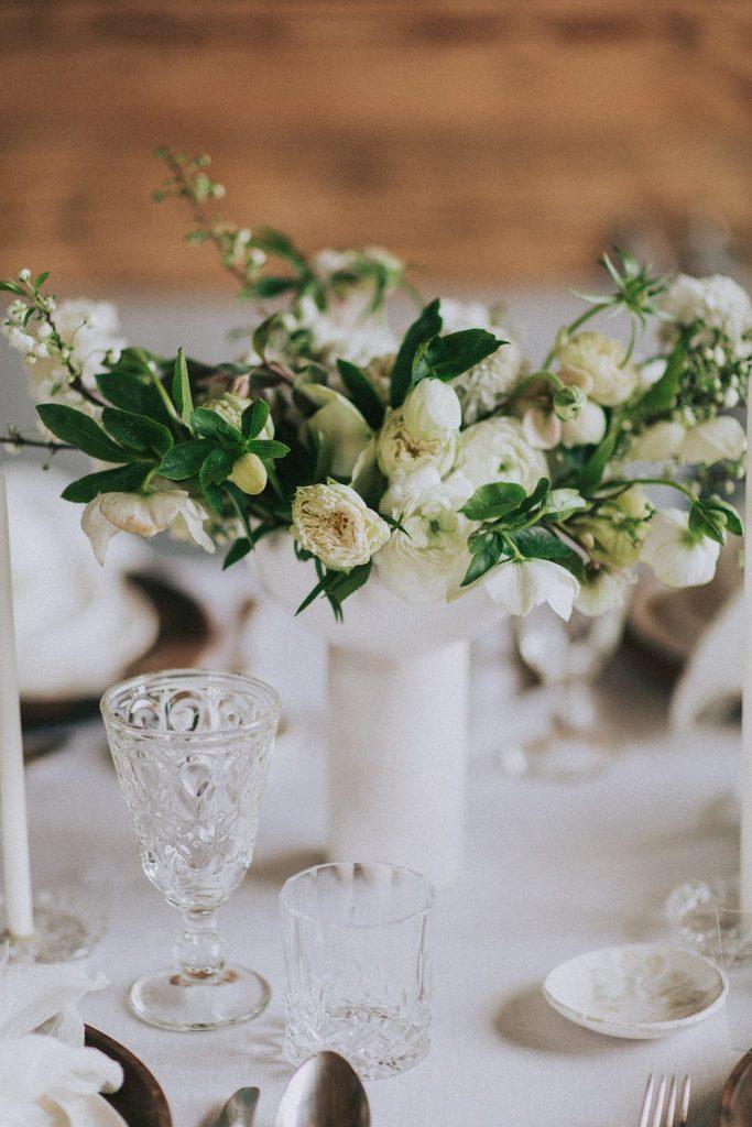Magnolias On Silk Austria Winter Wedding Centerpiece