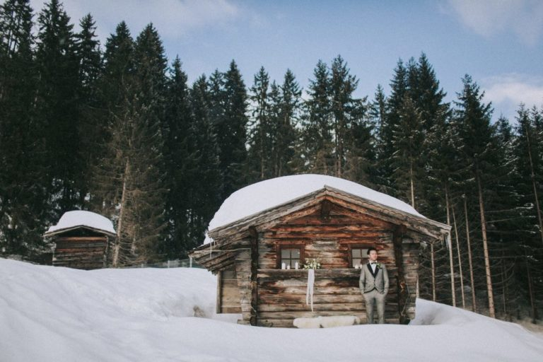 Magnolias On Silk Austria Winter Wedding Chalet Kasermandl 2