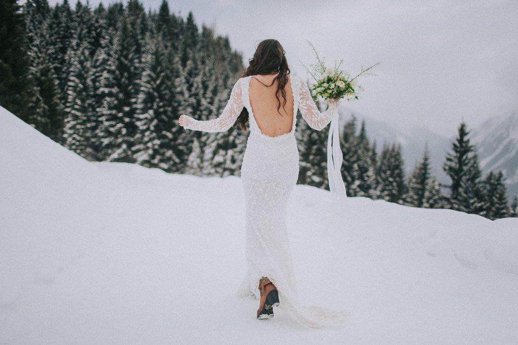 Magnolias On Silk Austria Winter Wedding Dress Bride