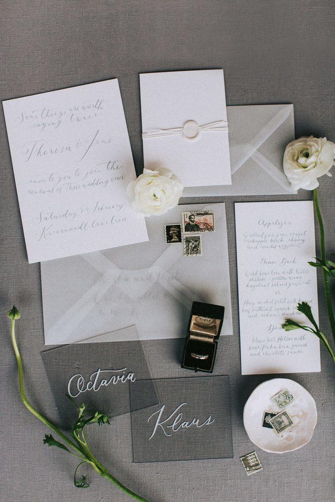 Magnolias On Silk Austria Winter Wedding Stationary Envelopes