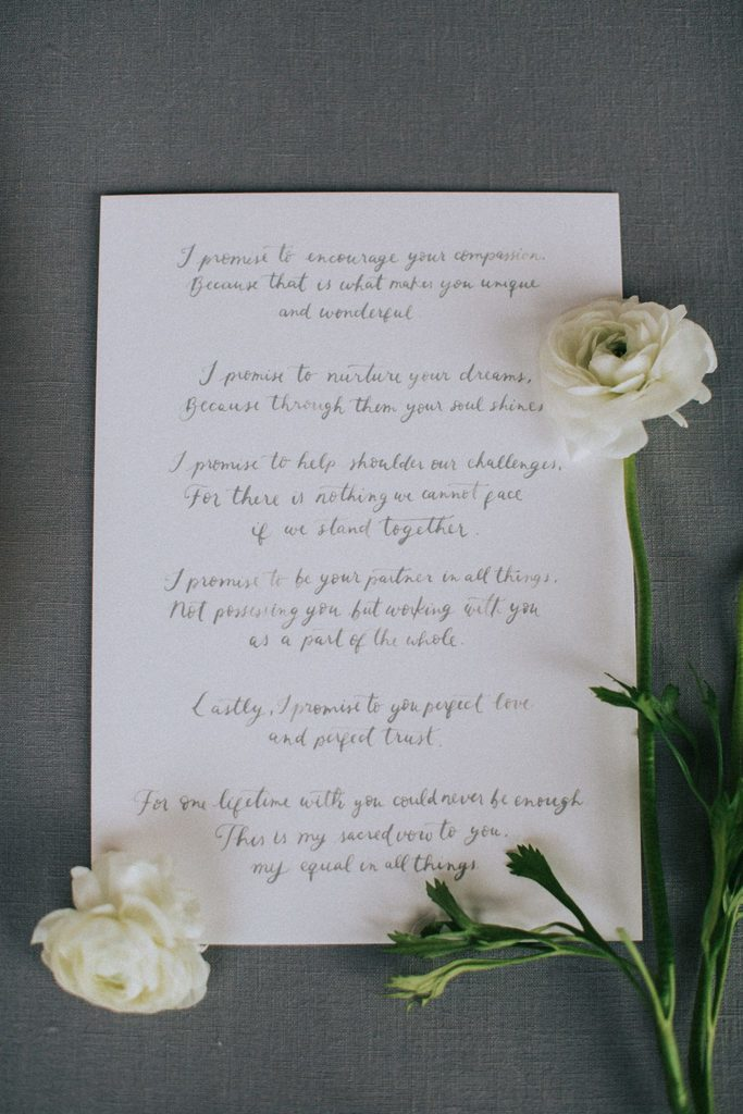 Magnolias On Silk Austria Winter Wedding Stationary Wedding Vows