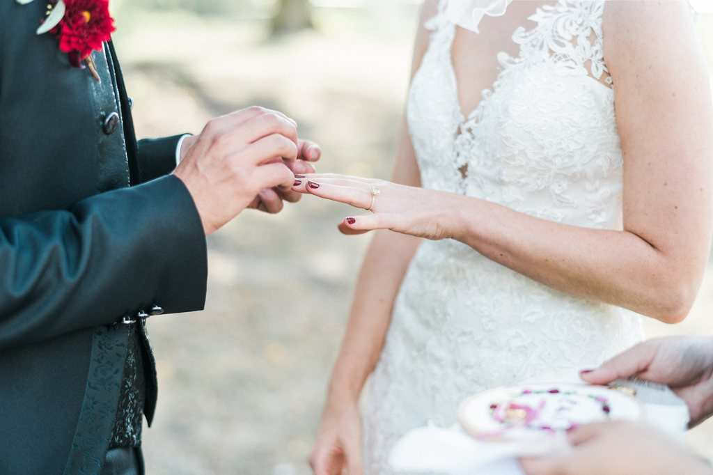 wedding ceremony, wedding couple, wedding rings,