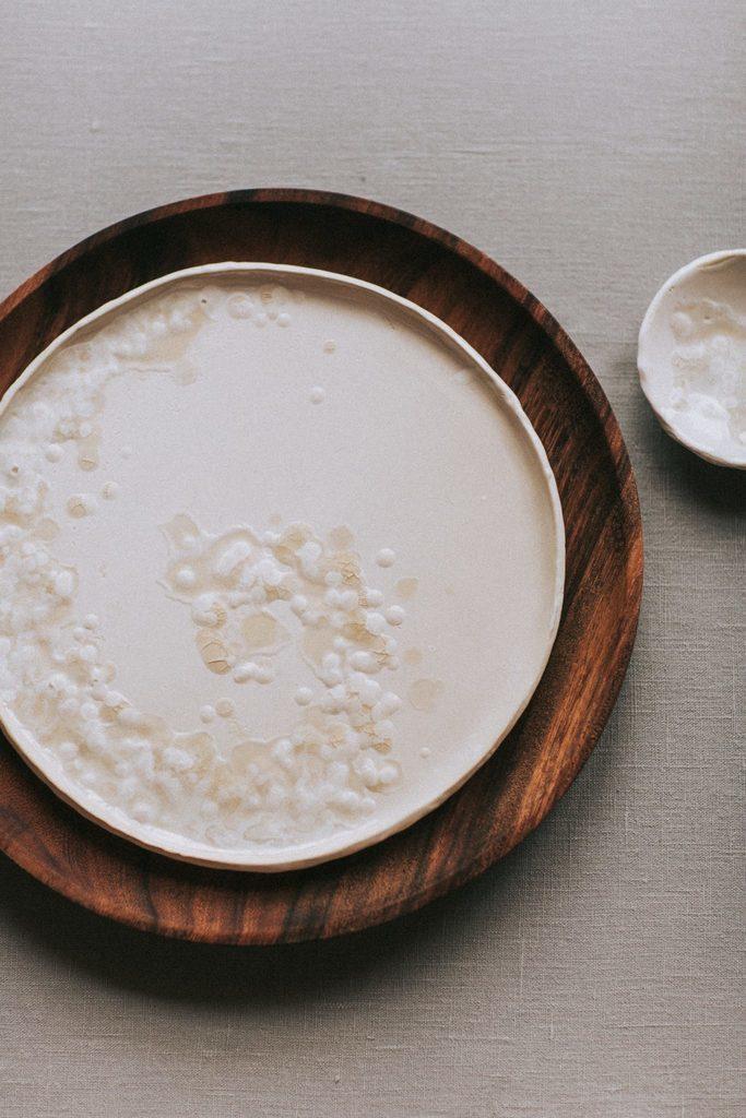 Magnolias On Silk Handmade Ceramic Plates