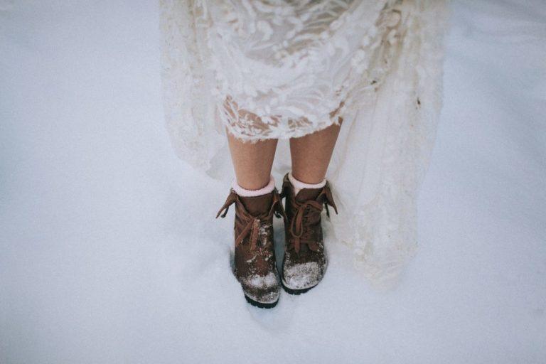 Magnolias On Silk Winter Wedding Shoes
