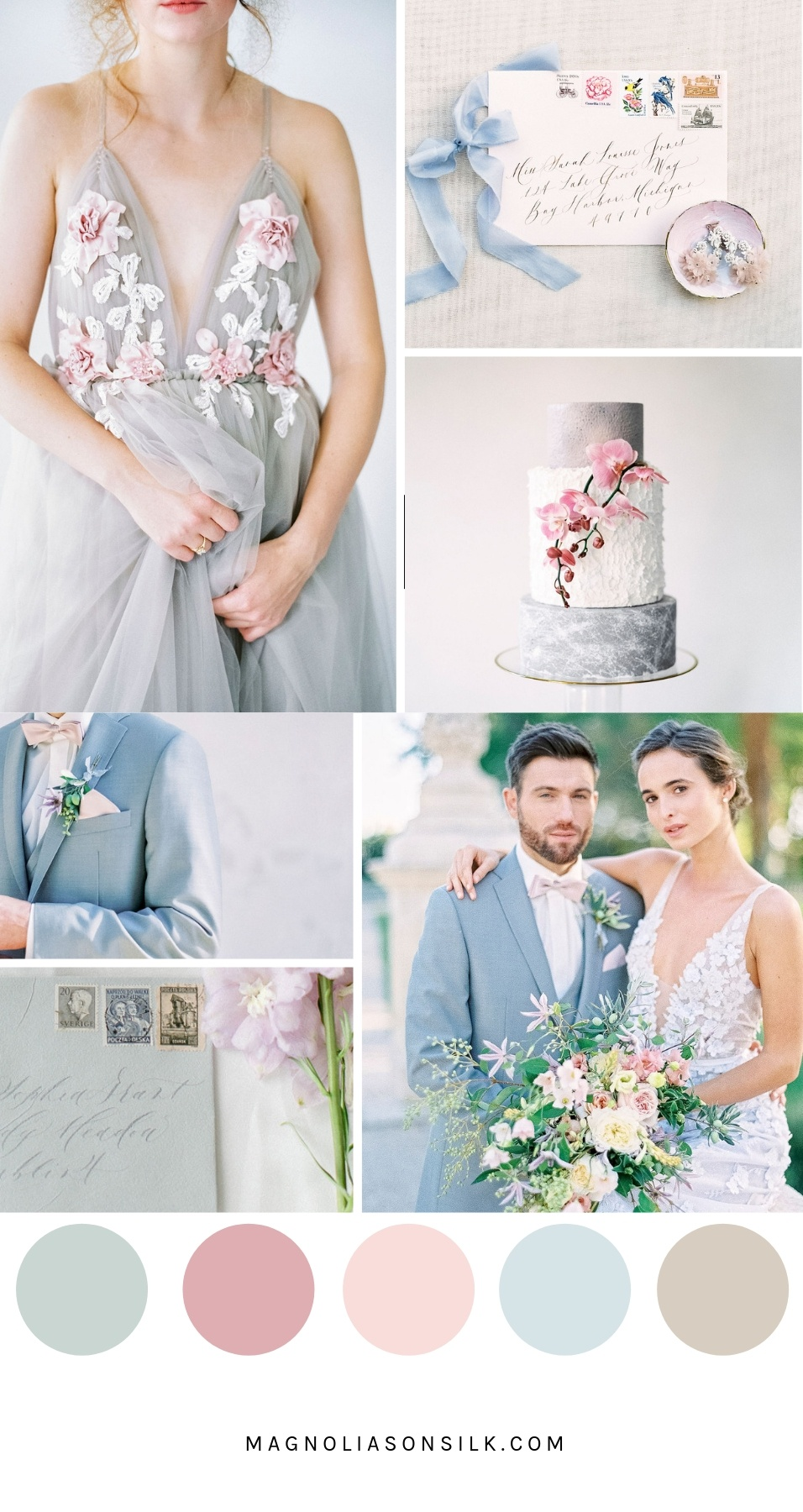 spring wedding color scheme, spring wedding color palette, pastel colors for spring wedding