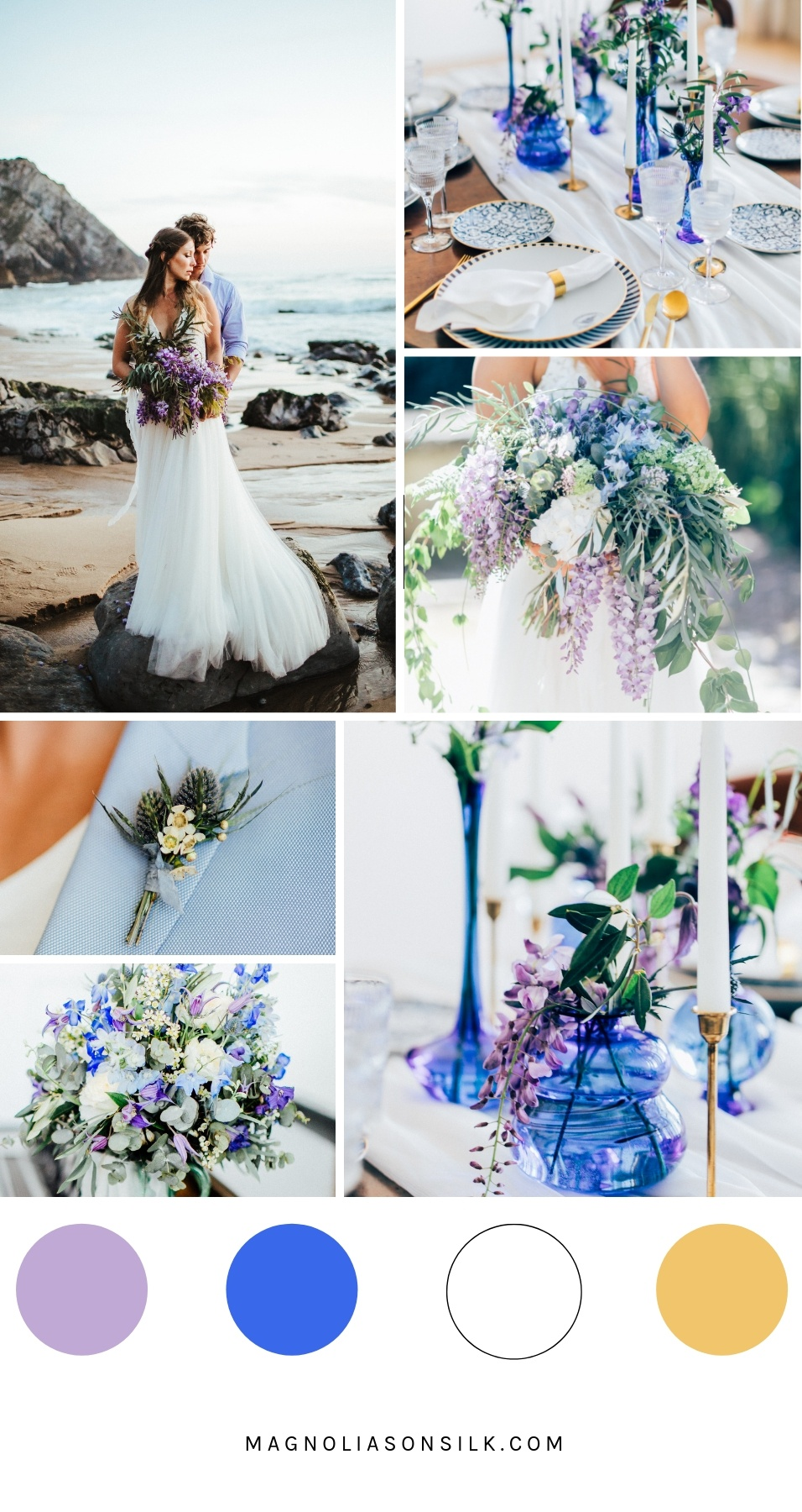 violet and blue wedding colors, violet spring wedding, wedding color scheme for spring