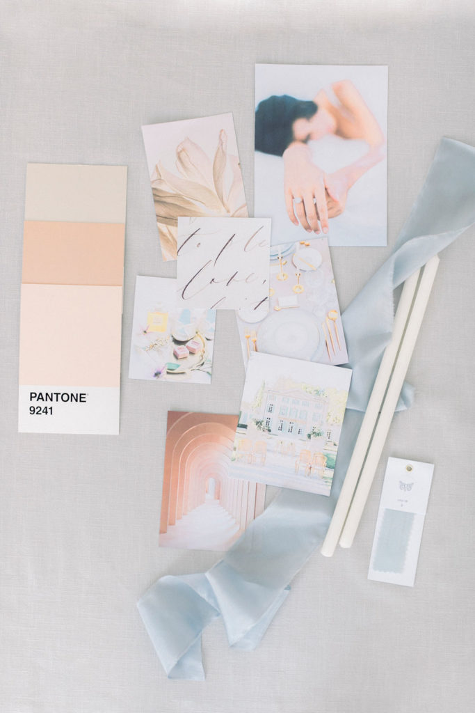 how to set up a wedding moodboard